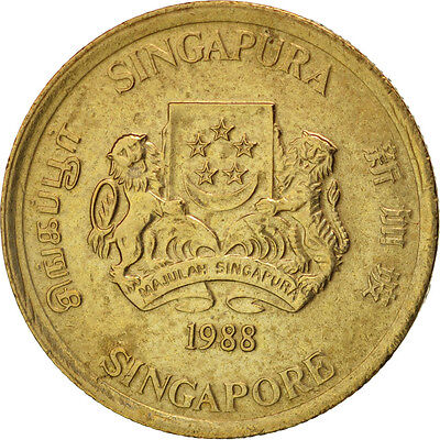 [#96730] Singapore, 5 Cents, 1988, British Royal Mint, AU(55-58)