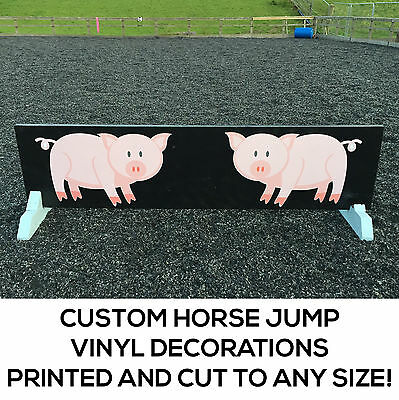 Horse Show Jumps Vinyl Decals - Horse Jump Decals - Decorate your Jumps!