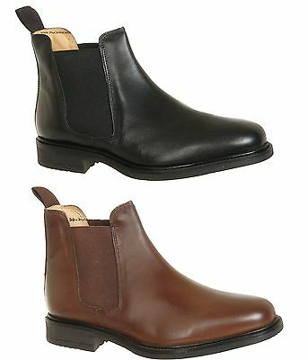 Roamers Jim Flexible Leather Fuller Wide Fit Twin Gusset Chelsea Ankle Shoe Boot