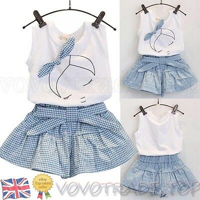 New Baby Kids Girls T Shirt Pants Dress Summer Outfits Clothes Set Free Shipping