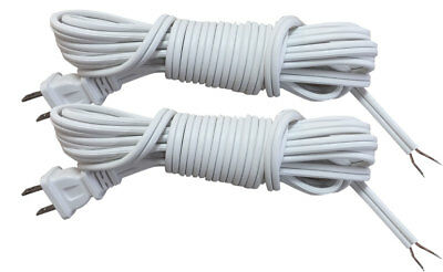 Royal Designs Lamp Cord with Molded Plug – White – 8 feet SPT-2 – Set of 2