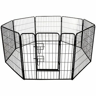 Large Panel Pet Play Pen Strong Pet Cage Crate Run Garden Indoor Dog Puppy