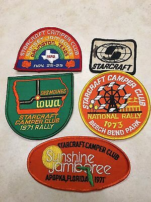 Lot of Vintage Starcraft Camper Club Patches