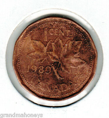 CANADA 1989- 1 Cent MAPLE LEAF - CIRCULATED (USED)