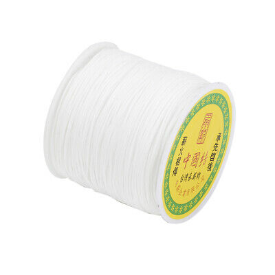 1Roll Kumihimo String Nylon White Shamballa Macrame Beading Cord Thread Making