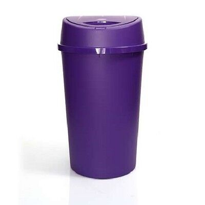 45L All Purple Touch Top Bin / Plastic / Dustbin / Rubbish / Waste / Button