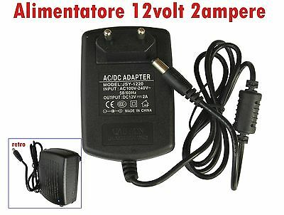 Alimentatore out DC 12volt 2 ampere.- in AC 110-240volt 50/60 Hz
