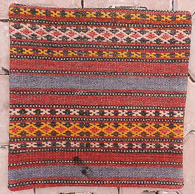 "16"" Vintage Handwoven Embroidered Turkish Kilim Cecim Pillow Cover Cushion Rug"