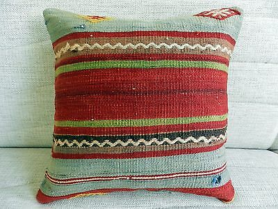Turkish kilim pillow cushion cover decorative pillow vintage kilim pillow16 x16