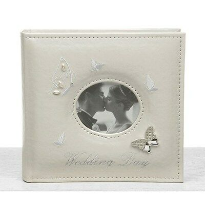 """Butterfly Wedding Photo Album Large - Holds 80  6 x 4"""" Photos Pictures NEW"""