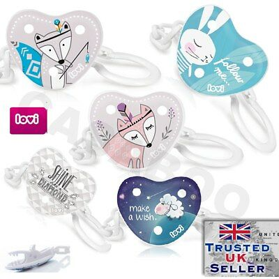 LOVI Baby dummy clip soother holder soother chain strap NEW Retro Marine freeBPA