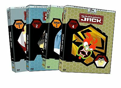 Samurai Jack Complete TV Series Seasons 1 2 3 4 Box / DVD Set(s) NEW!