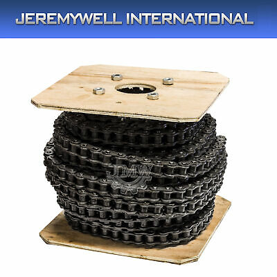 #40 Heavy Duty Roller Chain 50 Feet with 5 Connecting Links, 40H Chain