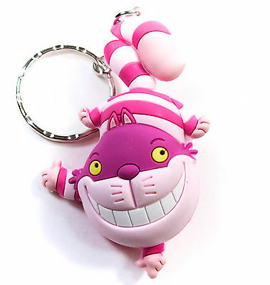 """Disney 3D Figural Keyring Series 3 CHESHIRE CAT 3"""" KEYCHAIN Opened Blind Bag"""