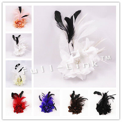 Feather Flower Headband Fascinator Weddings  Ladies Day Race Royal Ascot SF-03