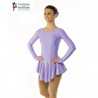New Girls/childrens Lilac & Silver Hologram Ice Skating Dress All Sizes