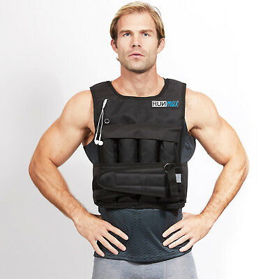 RUNmax Adjustable Weighted Weight Vest with Shoulder Pads 20lbs-140lbs