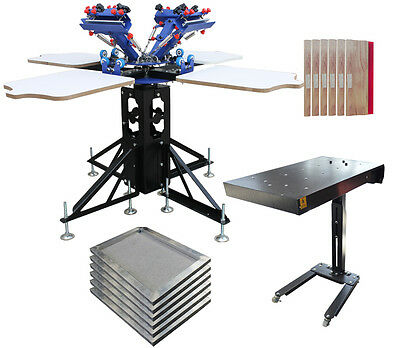 4 Color Silk Screen Press Printing  Kit -- Flash Dryer& Screen Frames & Squeegee