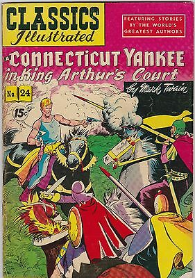 Classics Illustrated #24 A Connecticut Yankee in King Arthur's Court (1945)