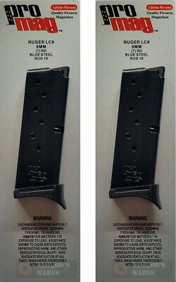 TWO ProMag RUGER LC9 9mm 7 Round MAGAZINES RUG16 STEEL FAST SHIP