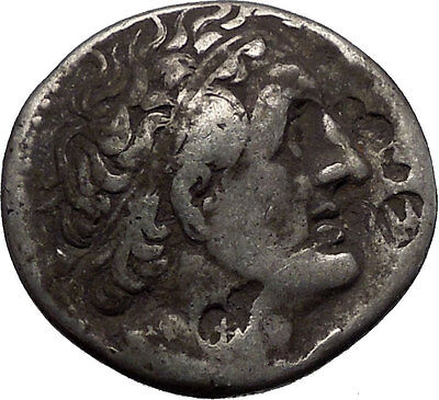 PTOLEMY I Soter King of Egypt 305BC Ancient Silver Greek TETRADRACHM Coin i56204