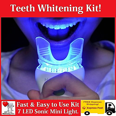 Dental Grade Teeth Whitening Kit with 6 LED Light and 18% Carbamide Peroxide Gel