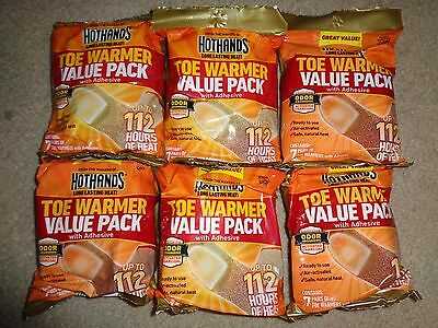 Lot of 6-7 Pair Packs 84 HotHands Toe Warmers 42 Pairs Hot Hands Exp 2019