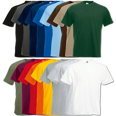 Fruit of the Loom T-Shirt Super Premium Baumwolle Herren Shirts S M L XL XXL 3XL