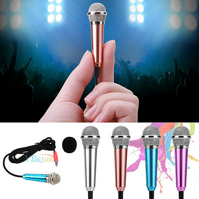 1PC 3.5mm Stereo Studio Speech mini Microphone For phone PC Laptop Notebook MSN