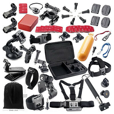 43 in 1 Chest Mount Strap for Gopro Hero 1 2 3 3+ 4 Camera Go Pro Accessorie Kit