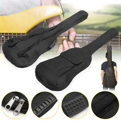Double Straps Electric Bass Guitar Bag Padded  Soft Case Backpack Gig Bag