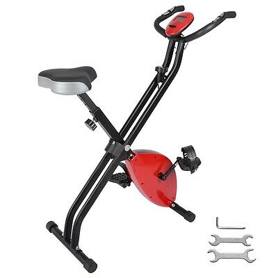 Folding Magnetic Exercise Bike Home Gym Cardio Indoor Fitness Trainer Machine