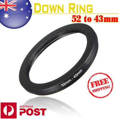 New 52-43mm 52mm-43mm 52 to 43 Metal Step Down Lens Filter Ring Stepping - Z382B