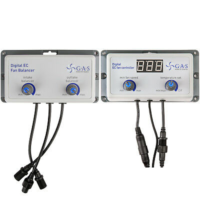 G.A.S. Hydroponic Digital Fan Controller & Balancer For Systemair Vector EC Fans