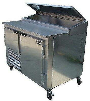 Cooltech 1-1/2 Door Refrigerated Pizza Prep Table S.S Top 60""