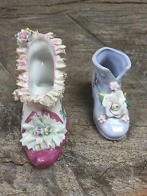 Antique Porcelain Victorian Shoe Made in Germany