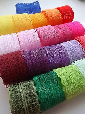 ***37 colours**** Lace ribbon trim sew on craft scrapbook wedding jar cards