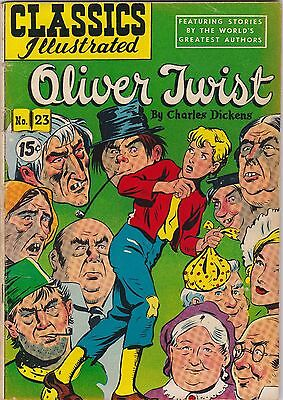 Classics Illustrated #23 Oliver Twist by Charles Dickens