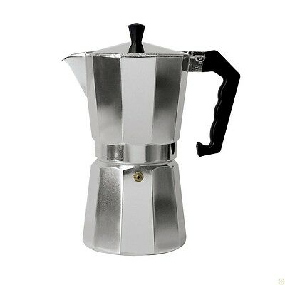 New Stainless Steel Inspired Espresso Maker Stovetop, Coffee Maker, 9 Cups Size