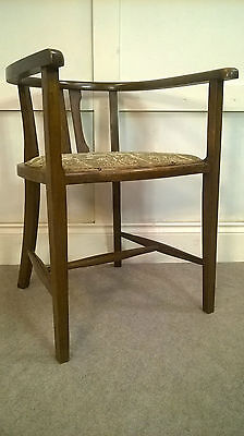 Vintage Art Deco 1930s Beech Arm Chair Tub Office Desk Chair Delivery Available