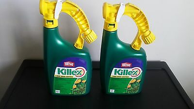 Qty 2. ORTHO Killex Lawn Weed Control Ready-to-Spray 1L Herbicide solution