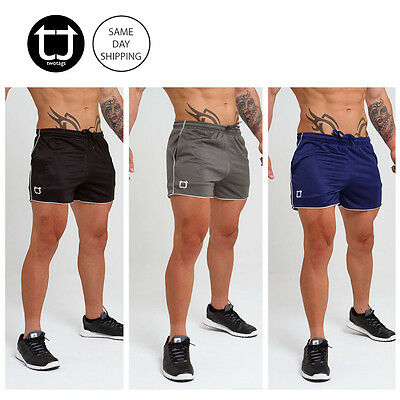 TWOTAGS Aesthetic Shorts GYM BODYBUILDING TRAINING RUNNING FESTIVAL MENS SPORTS