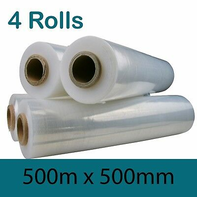 4 ROLLS Clear Pallet Film Wrap 500MM x 375M CLEAR PALLET WRAP Free Shipping