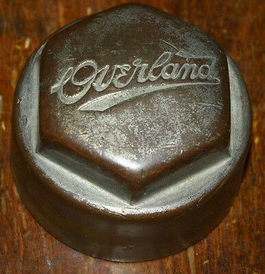 Vintage Overland Screw On Hub Nut Cap 2 12 Inch Opening