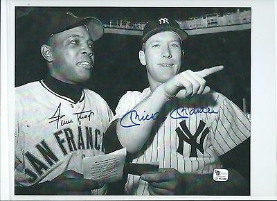 Mickey Mantle  Willie Mays Signed / Autographed 8x10 Photo Picture Certified GAI
