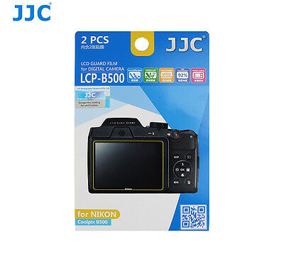 JJC LCP-B500 LCD Screen Guard Protector PET Film For  NIKON Coolpix B500 x 2pcs