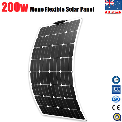 200W Flexible Solar Panel 12V Battery Charging Caravan Camping Power 200WATT NEW