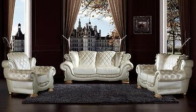 Pendragon Vienna Leather 3 Seater Sofa, Instock Quick delivery Available