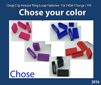 Security Wrist band Fastener Clasp Keeper Rings Fitbit Charge HR