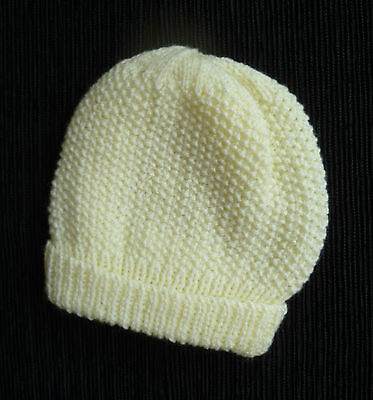 Baby clothes BOY GIRL 12-18m professionally knitted yellow pull-on hat yellow